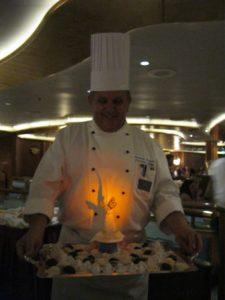 CB Chef presenting Biscotti