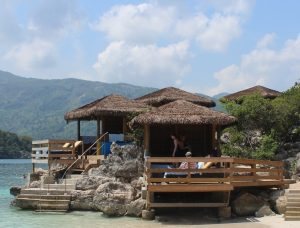 We splurged on a cabana to help give us a home base on Labadee (Royal Caribbean's private resort area).
