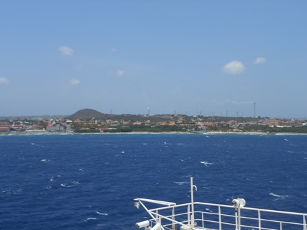 Curacao from the sea