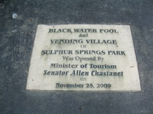 Sulphur Springs Park dedication plaque