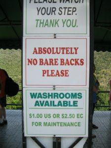 St Lucia - Visitor area signage