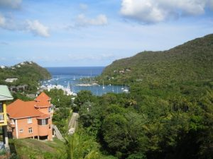 View of Marigot Bay, St Lucia