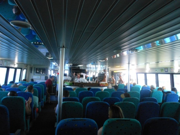 Interior of UltraMax ferry. Seats were very comfortable.