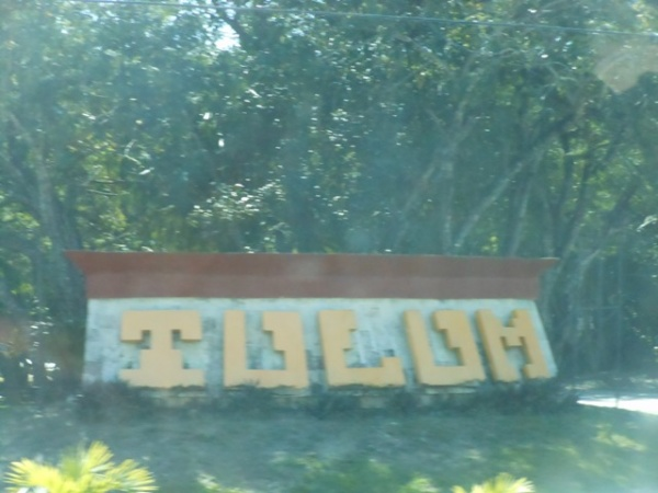 Signage outside of Tulum