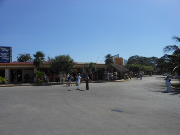 Parking area in Tulum