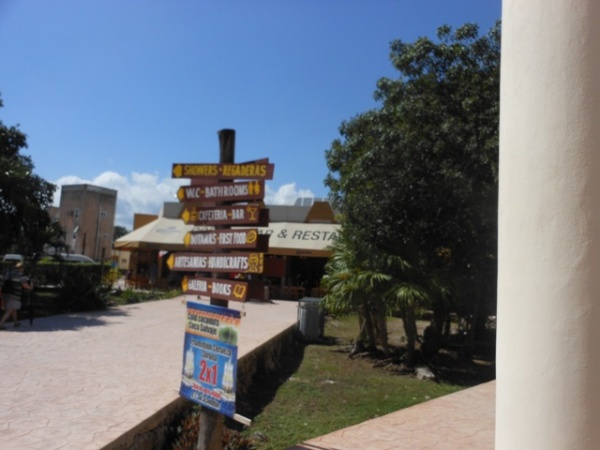 Signage at tourism village