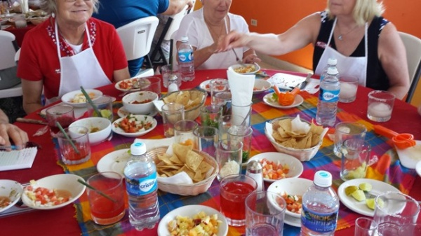 Messy Table after Salsa Making