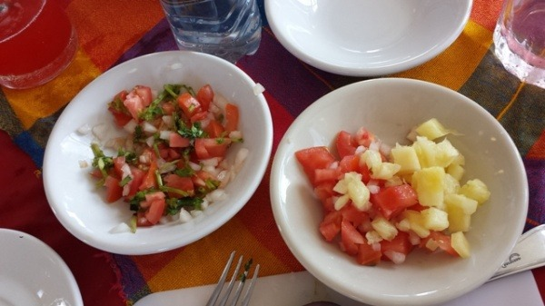 Pico de Gallo and Mango/Melon Salsa