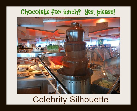 Chocolate fountain in Oceanview Cafe