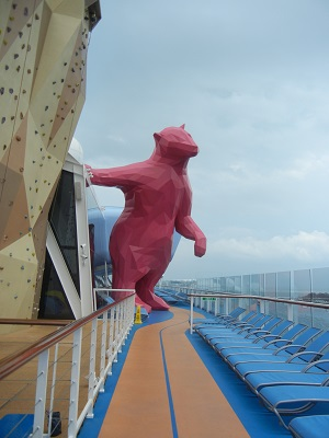 Red Bear mascot of the Quantum of the Seas