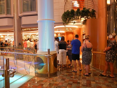 Next Cruise desk on the last day of the cruise
