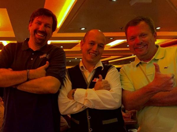 Steve & Ric with our head server, Caesar