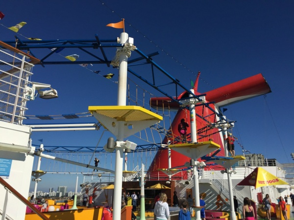 Carnival Breeze ropes course
