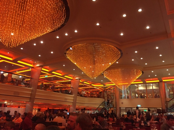 Carnival Breeze Blush dining room