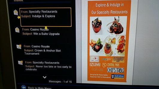 TV menu