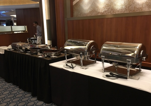 American Icon Grill Breakfast Buffet - Hot Station with Traditional Breakfast Items - Royal Caribbean Oasis of the Seas