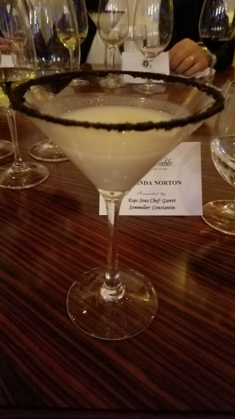 Lemon Ginger Cheesecake Martini