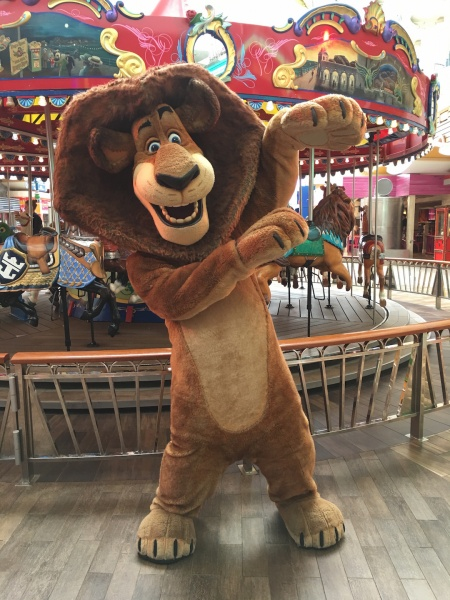 Alex the Lion from Madagascar - DreamWorks Experience on Royal Caribbean Oasis of the Seas