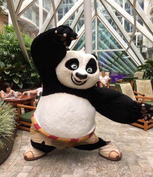Po from Kung Fu Panda - DreamWorks Experience on Royal Caribbean Oasis of the Seas