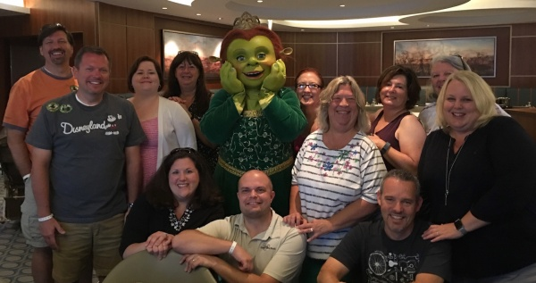 Princess Fiona with Travel Counselors affiliated with The Magic For Less Travel and Magically Carefree Vacations - DreamWorks Rise & Dine Character Dining on Royal Caribbean Oasis of the Seas
