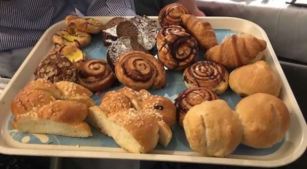 Passed assorted pastries and rolls at the DreamWorks Rise & Dine Character Breakfast