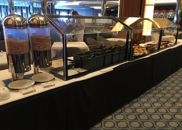 American Icon Grill Breakfast Buffet - Assorted Cereals and Bread - Royal Caribbean Oasis of the Seas