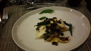 Branzino with roasted cauliflower