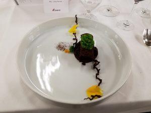 Chocolate Hazelnut with Basil moss, cocoa logs and chocolate soil