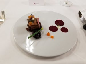 Main Course #1: Slow Cooked Crispy Lamb with roasted beet and port jus. I wanted more beets and sauce.