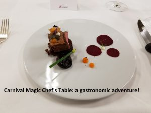 Carnival Magic Chef's Table