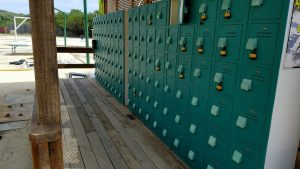 Rental Lockers at Mahogany Beach