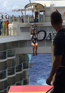 Zip-lining was so much fun!